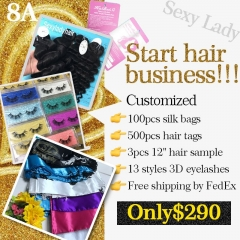 Start business samples with 8A hair