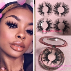 25MM Queen 3D mink lashes with specail cases for Retail
