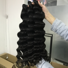 Raw indian hair 3pcs+closure
