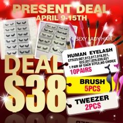 Human eyelashes Crazy Christmas SALES