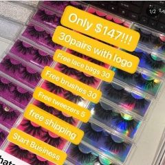 Queen 4d/5d mink Lashes with clear cases with Custom logo
