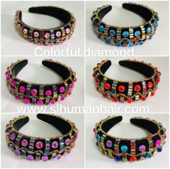 Colorful Diamond Headband Included Shiping Cost