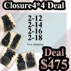 Closure 4*4 Wholesale Deal